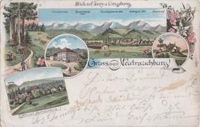 Neutrauchburg - Blick auf Isny u. Umgebung - Gasthaus z. Sonne - Fischerhäusle