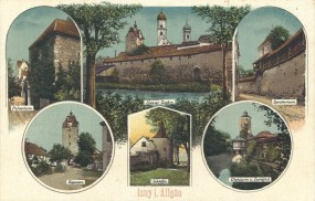 Isny i. Allgäu - Pulverturm, Espantor, Schlößle, Speicherturm, Diebsturm u. Zwinghof