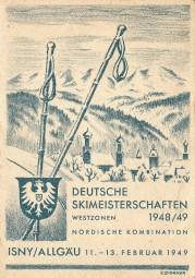 Isny Allgäu - 11.-13. Februar 1949, Deutsche Skimeisterschaften Westzonen 1948/49