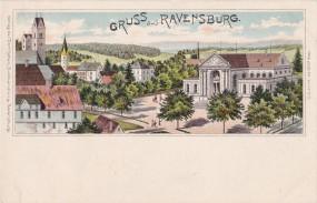 Ravensburg - Teilansicht von Ravensburg - 1898