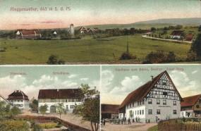 Ringgenweiler, 645m ü.d.M. - Pfarrhaus, Schulhaus, Gasthaus zum Bären, Besitzer: Josef Sorg.