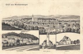 Mochenwangen - Papierfabrik, Kath. Kirche, Bahnhof