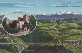 Ratzenried aus der Vogelschau - Gräfl. Schloß 1917