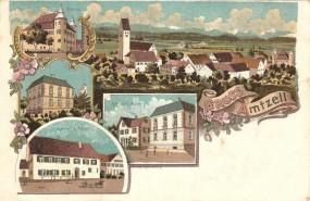 Amtzell - Kaufhaus v. Müller, Schloss, Gasthof z. Adler