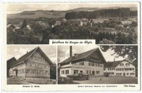 Geiselharz bei Wangen im Allgäu - Inhaber B. Wirth, Anton Schmid Käserei zur Alpenbiene