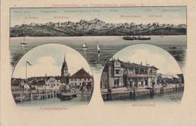 Alpenpanorama von Friedrichshafen gesehen - Bahnhof-Terrasse
