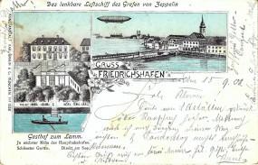 Friedrichshafen a.B. - Gasthof zum Lamm, Luftschiff Zeppelin