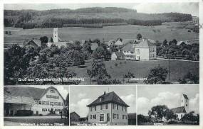 Obereisenbach Kr. Tettnang - Ortsansicht, Wirtschaft z. Hirsch v. Zittrell, Handlg. v.X.Mesmer, Kirc