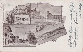 Pasing - Bahnhofstrasse - Marienplatz u. Planeggerstrasse - Bahnhof 1899
