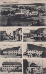 Mauern bei Moosburg - Kirchenpartie - Orspartie - Gasthof Wiesheu - Brauerei - Metzgerei Liedl 1919