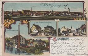 Manching - Totalansicht - Förster Kunst-Mühle - Gebr. Krauss-Kunstmühle 1914