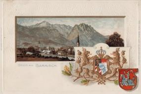 Garmisch - Prägekarte