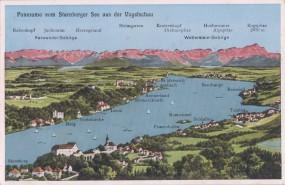 Panorama vom Starnberger See aus der Vogelschau