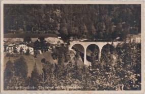 Deutsche-Alpenstraße - Mauthäusl und Pfannlochbrücke 1910