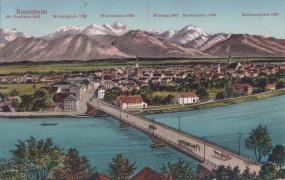 Rosenheim - Bergpanorama - Brücke 1915