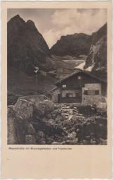 Blaueishütte mit Blaueisgletscher und Hochkalter - Das Berchtesgadener Land