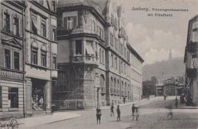 Amberg - Prinzregentstrasse mit Filialbank 1904