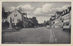 Stein bei Nürnberg - Hauptstraße mit Rathaus 1939
