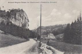 Richard-Wagner-Felsen bei Obertrubach (Fränkische Schweiz) 1921