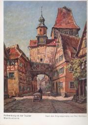 Rothenburg o. Tauber - Am Markusturm - Nach dem Gemälde von Paul Sollman
