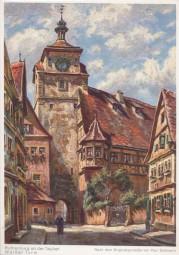 Rothenburg ob der Tauber - Weißer Turm - Nach dem Originalgemälde von P. Sollmann