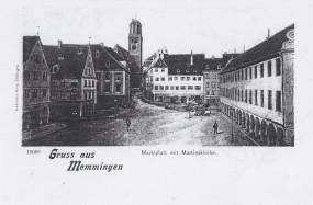 Memmingen - Marktplatz mit Martinskirche