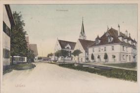 Legau - Kirchenplatz 1912