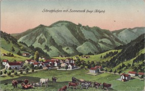 Sibratshofen mit Sonneneck (bayr. Allgäu) 1917