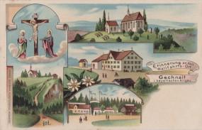 Gschnait im bayerischen Allgäu - Wallfahrts-Ort 1904