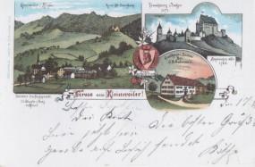 Kleinweiler im Allgäu - Gasthaus Sonne - Ruine Alt-Trauchburg