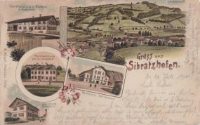 Sibratzhofen - Totalansicht - Mehlhandlung - Holzhandlung - Molkerei 1901