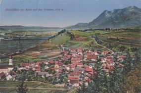 Altstädten mit Blick auf den Grünten 1917