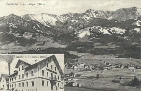Sonthofen i. bayr. Allgäu 740m - Gasthof u. Brauerei z. Ochsen