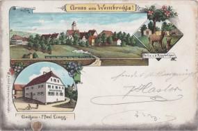 Wombrechts - Gasthaus v. P. Paul Lingg - Partie a. d. Rehgärtchen