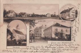 Wombrechts - Pfarrkirche - Gasthof z. Adler - Pfarrhof - Handlung v. I. Steib 1907