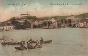 Stollberg i. Erzgeb. - Walkteich mit Schloss Hoheneck