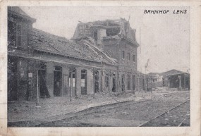 Lens - Bahnhof Lens - 1916