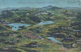 Hirschberg am See (Doksy) und Umbgebung a. d. Vogelschau