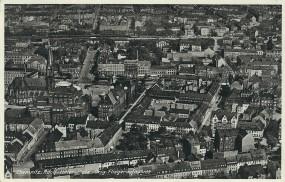 Chemnitz. Adolf-Hitler-Platz. Org. Fliegeraufnahme