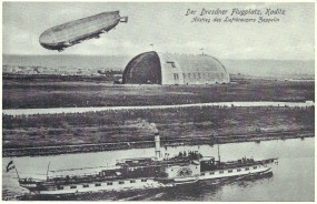 Der Dresdner Flugplatz, Xaditz - Abstieg des Luftkreuzers Zeppelin