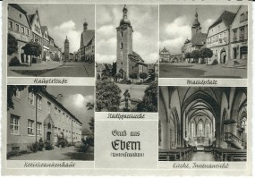 Ebern Unter-Franken - Hauptstraße, Stadtpfarrkirche, Marktplatz, Kreiskrankenhaus, Kirche Innenansic