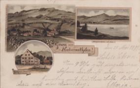 Niedersonthofen - Gasthaus z. Krone v. C. Weitenauer - See 1899