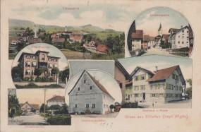 Ellhofen (bayr. Allgäu) - Gasthaus z. Adler - Villa Wachter - Gasthof z. Krone 1909