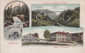 Riedholz im Allgäu - Tobelbrücke - Argen-Wasserfälle - Gasthaus z. Tobelbrücke