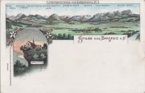 Bregenz a. B. - Alpenpanorama vom Gebhardsberg