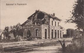 Bahnhof in Frankreich 1917