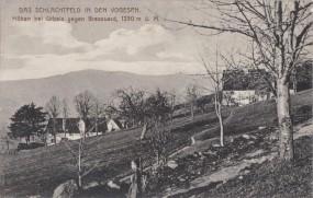 Das Schlachtfeld in den Vogesen - Höhen bei Urbels gegen Brezouard 1915