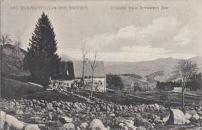Das Schlachtfeld in den Vogesen - Urbeistal beim Schwarzen See 1915