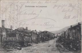 Dorfstrasse im Loupmont 1915