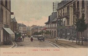 I. - Longwy - Rue de Metz - La Poste 1914